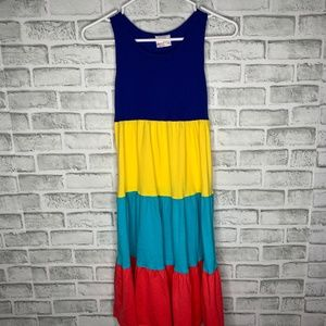 Hanna Andersson Color Block Sleeveless Dress EUC